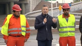El presidente Mauricio Macri inaugura la Autopista Urbana de Rosario