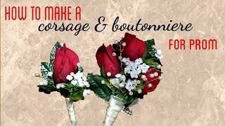 HOW TO MAKE A CORŠAGE & BOUTONNIERE | PROM DIY | SINCERELY DRE
