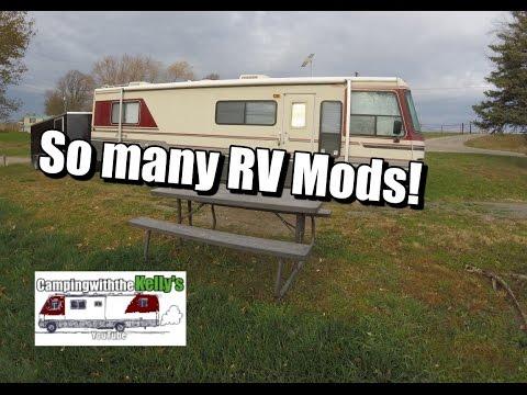 Rv Living Tv Mod Diy Stove Top Cover Rv Door Handle