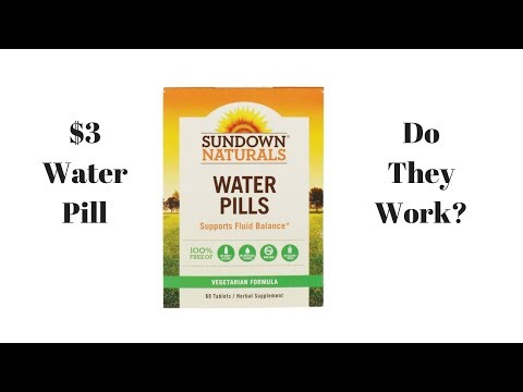 $3 Sundown Naturals Water Pill (Review) Reduce Water Retention Quickly