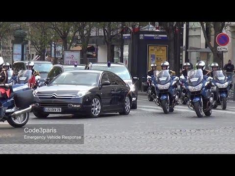 Motorcade of Chinese President Xi Jinping in Paris