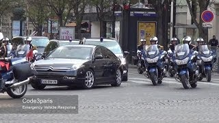 Motorcade of Chinese President Xi Jinping in Paris