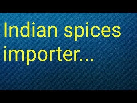 Indian spices importer