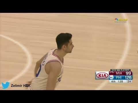 Furkan Korkmaz'ın NBA playofflarındaki ilk üçlüğü