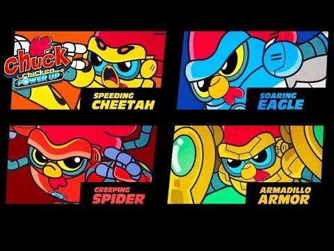 Chuck Chicken Power Up -  All 5 episodes - Action Cartoon