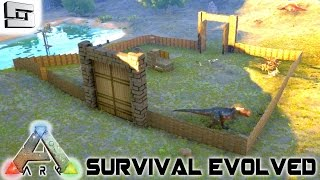 ARK: Survival Evolved - BASE BUILDING WALL! S2E2 ( Gameplay )