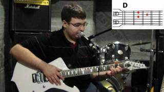 Аккорды для гитары (простые). Как играть аккорды Em D H7?