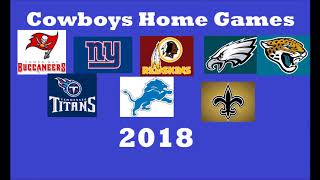 Cowboys 2018 Opponents