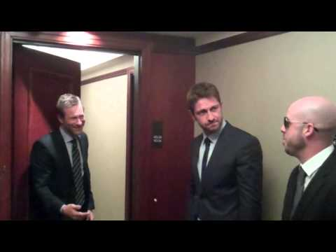 with Gerard Butler and Aaron Eckhart