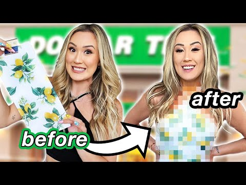 $1 DIY DOLLAR STORE OUTFIT CHALLENGE