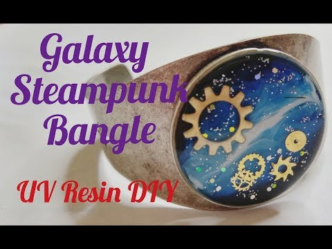 UV Resin DIY Galaxy Steampunk Bangle Bracelet