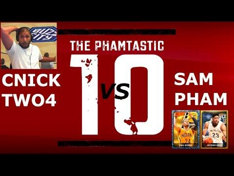 NBA 2K15 My Team Tips: CNICKTWO4 vs Sam Pham. Onyx Lebron James + Tim Duncan. Unstoppable Offense