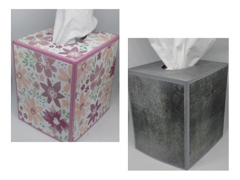 Cube Tissue Box Cover with Stampin' Up! products.