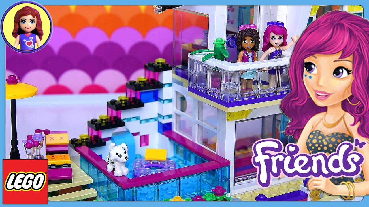 Lego Friends Livis Pop Star House Set Build Review Play Kids Toys