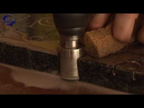 How to drill porcelain tiles with a 365 diamond holesaw core drill bit PORSADRILL
