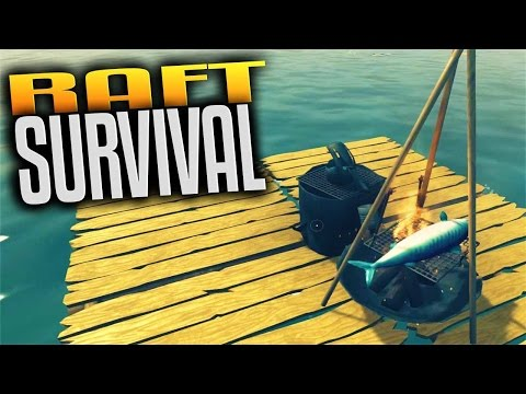 Raft Gameplay - Ep 1 - Surviving on a Raft! Food, Water, Sharks! (Let's Play Raft Survival Gameplay)