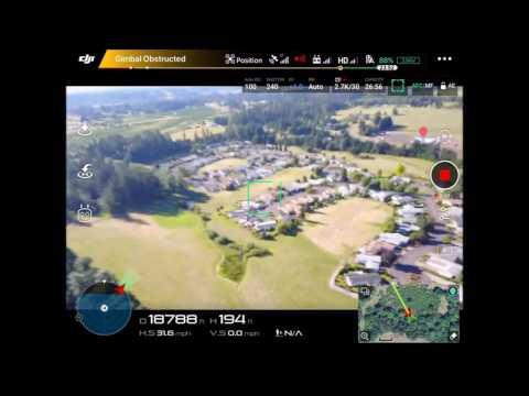 DJI Mavic 46k Distance Flight - Screen recording