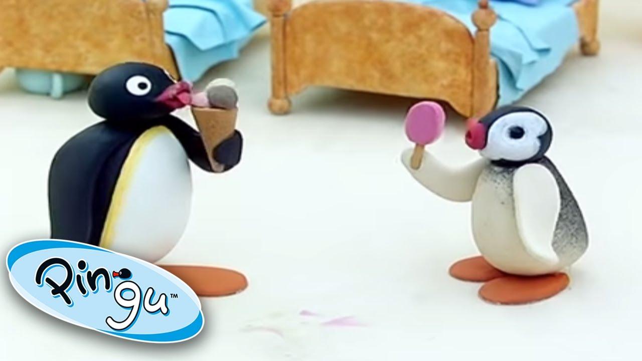 Pingu And Pinga Enjoy Ice Cream! @Pingu - Official Channel  | Cartoons For Kids