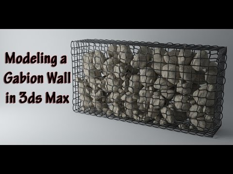 Modeling a Gabion Wall in 3ds Max