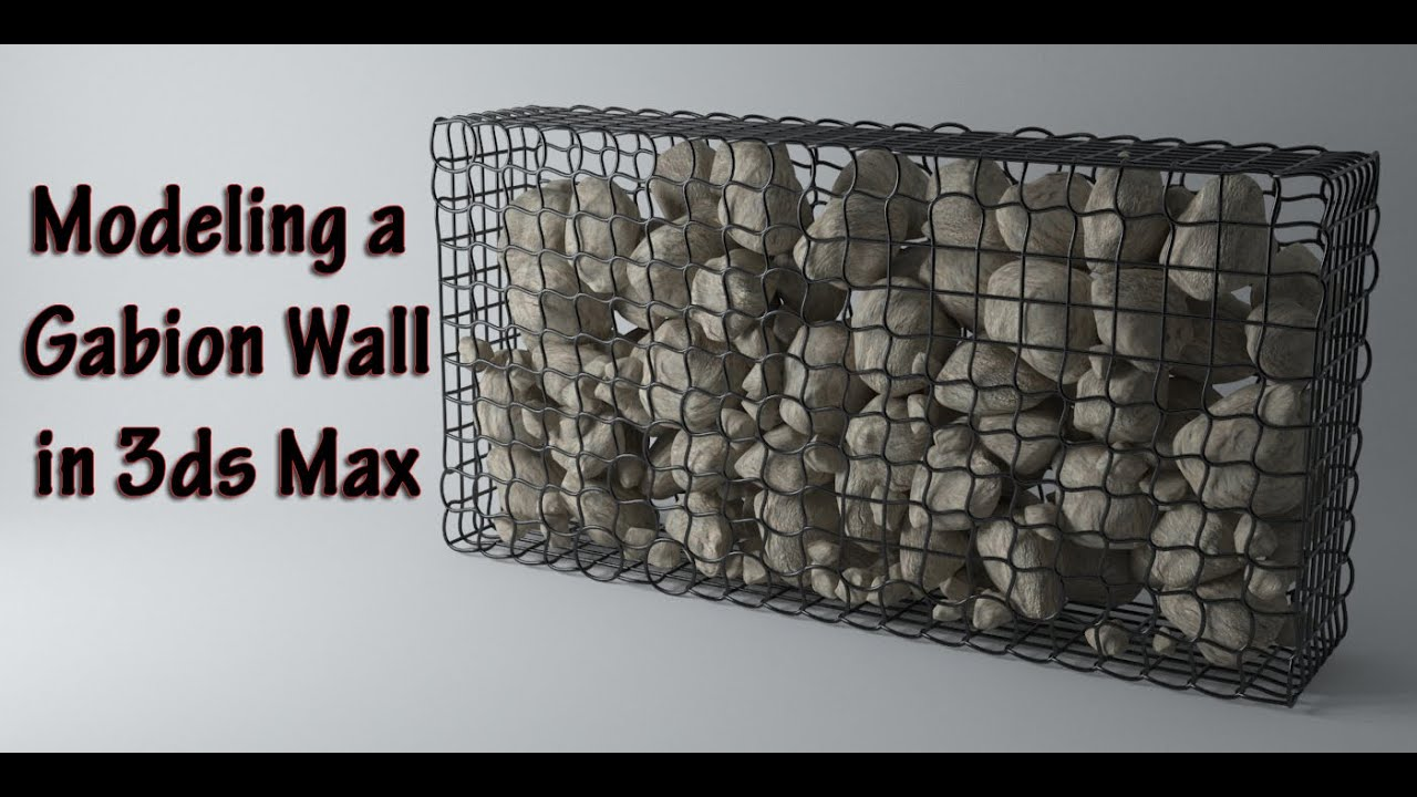 Modeling A Gabion Wall In 3ds Max Youtube