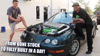 Download We FULLY BUILT an Integra in ONE DAY! Mp3 and Videos
