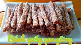 Bánh Quẩy que vị Gừng giòn rụm dễ làm ai cũng mê • Thanh Tâm Food