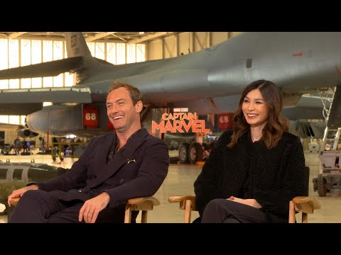 Captain Marvel: Jude Law and Gemma Chan Talk Empowerment (Exclusive)