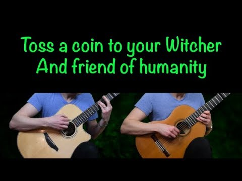Toss A Coin To Your Witcher (Cover Lyrics Acoustic Chords Fingerstyle Classical Guitar Lesson Tabs)