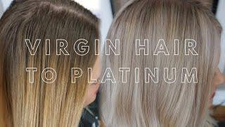 Virgin Hair to Platinum || Hair Tutorial