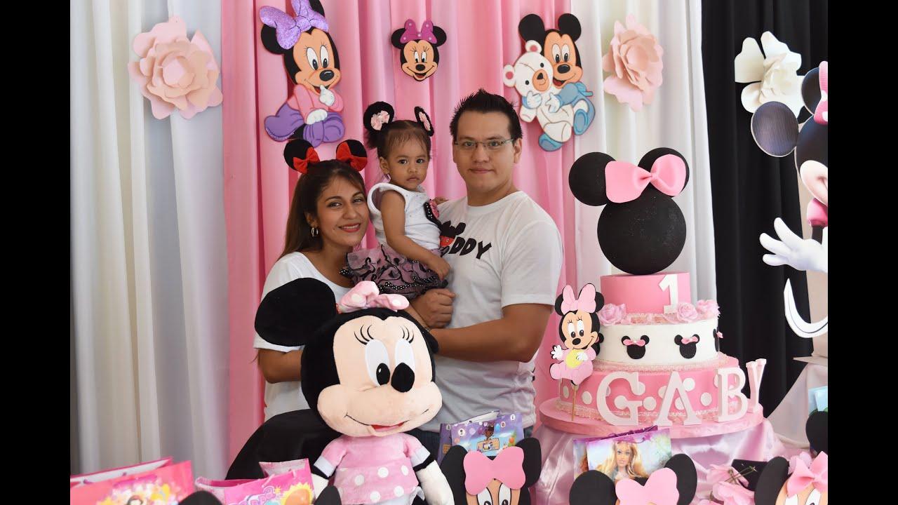 Fiesta Minnie Mouse - Gaby Alvarez Tapia 1 añito - YouTube