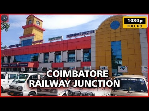 Coimbatore Railway Junction Walk Through - Cleanest Railway Station in Tamil Nadu - Full HD Video