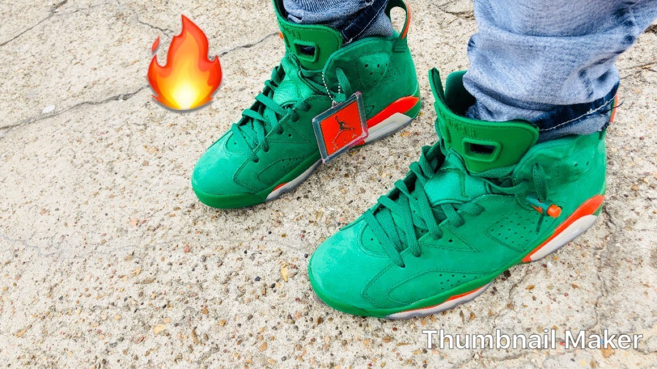 "best service 8b6f5 42b2a Gatorade green 6s ""NRG"" retro Jordan ON FEET & outfit of the day🔥🔥🔥"