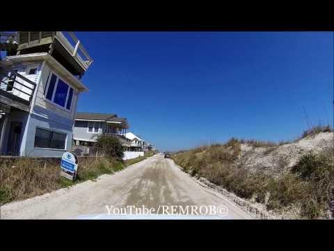 Driving Ocean Ave., Amelia Island, Florida