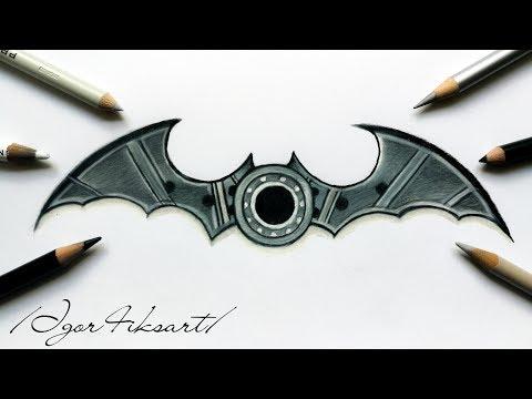 How to draw Batman - Fidget Spinner | Igor4iksart 🦇