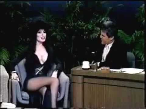 ELVIRA Cassandra Peterson on JAY LENO  Mistress of the Dark