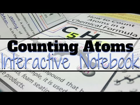 Teaching High School Science - Counting Atoms Interactive Notebook Resource for Chemistry Teachers
