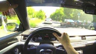 Audi S8 V10 POV Drive in the City - Driver View Onboard Acceleration 4E Quattro - No A8 W12 D3