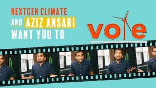 Aziz Ansari Wants You to Vote