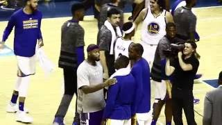 DeMarcus Cousins and Steph Curry reconciled after heated exchange during the game.
