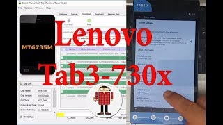 How to Flash/Update Lenovo Tab 3-730X with Official Firmware ᴴᴰ