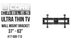 Ultra Thin TV Wall Mount Bracket - 37