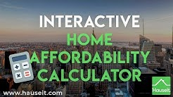 Interactive Home Affordability Calculator (2019) | How Much House Can You Afford? - Hauseit