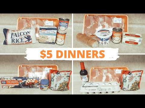 QUICK & AFFORDABLE MEALS: 5 DOLLAR DINNERS: EASY CHICKEN MEALS