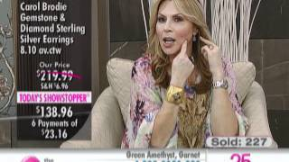 Carol Brodie Gemstone & Diamond Sterling Silver Drop Earrings at The Shopping Channel 458759