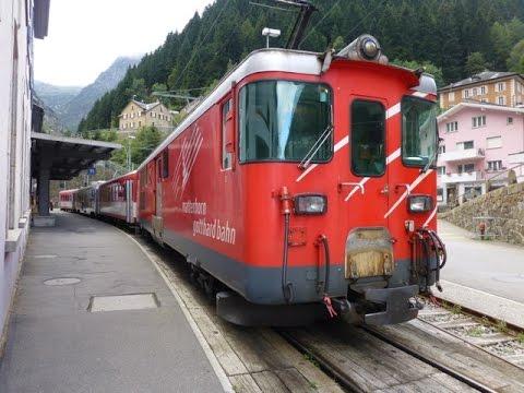 Swiss Trains: Gotthard Pass, Göschenen to Andermatt, 14Sep14