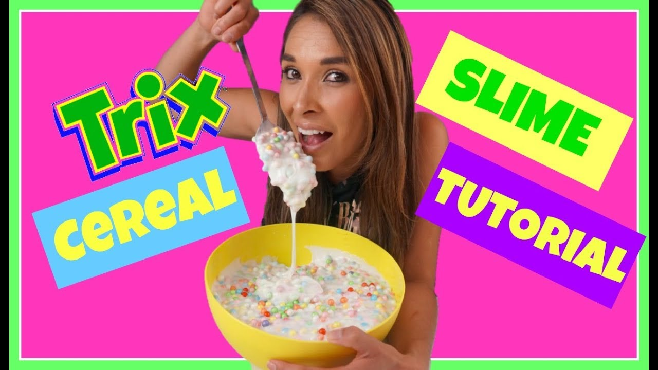 how to make cereal slime