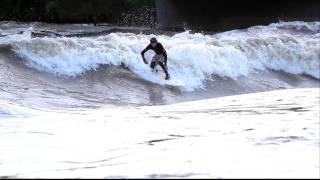 Surfer on Glenwood Wave, Colorado River