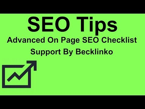 Advanced On Page SEO Checklist 2017