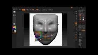 Zbrush|The mask of V For Vendetta