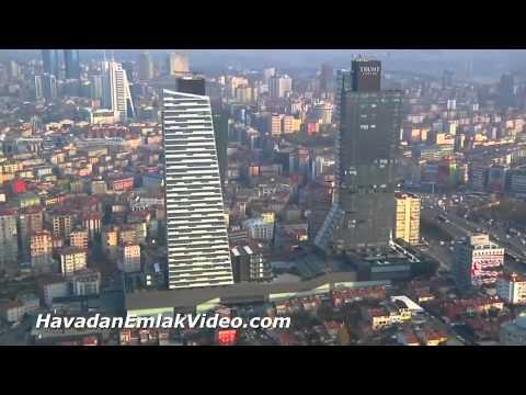 VİDEO: MECİDİYEKÖY TRUMP TOWERS'A BİR DE HAVADAN BAKIN!